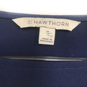 41 Hawthorn Tops - 41 Hawthorn Lagenlook Navy Blue Blouse